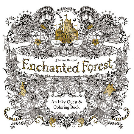 Enchanted Forest: An Inky Quest & Coloring Book, Johanna Basford - 84 Pages  - The Paint Chip